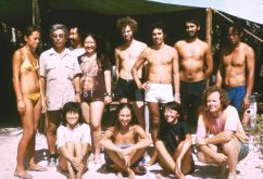 Second-session students in the Teti'aroa field school. Yosi Sinoto is in the upper left and  Patrick McCoy in the lower right. UH students were Linda Sasaki, Judy McCoy, Neal Oshima, Ernest Dinsmore, and Craig Brodahl; Ecole Normale students were Teiki Frebault, Germain Vinquin, Josette Manjard, and Linda Petard.