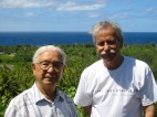 Dr. Sinoto and Frank Stewart