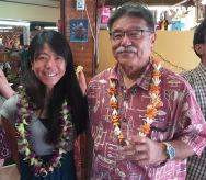 Madoka Nagado with Akihiko Sinoto.